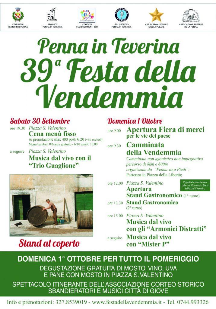 Programma 2017 - Festa della Vendemmia - Penna in Teverina